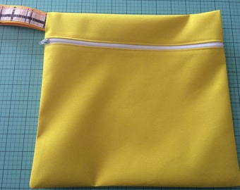 Handmade Waterproof Wet Dry Bag for your Diapers, Swimsuit or Gym Clothes