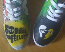 Custom Painted - 5 Seconds Of Summer - Sounds Good Feels Good Shoes