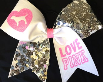 LOVE PINK Sequin Cheer Bow