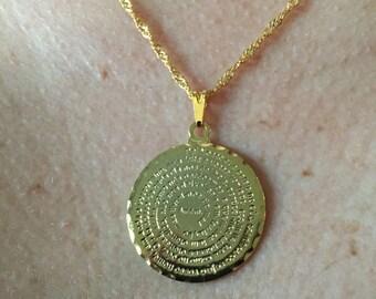 Circular Necklace with Script