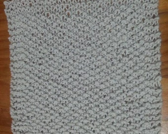 Knitted dishcloth, moss stitch, great for cleaning, reduce carbon footprint, reuse, 100% cotton