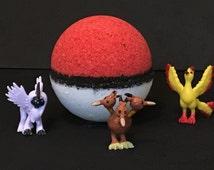 Pokeball Bath Bomb, Pokemon Bath Bomb, Surprise Bath Bomb, Bath Bomb Gift, Citrus Bath Bomb