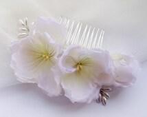 Comb Pansies Bridal Comb Flower Comb Flower Hair Comb Bridal Flower Hair Piece Flower Headpiece. Bridal Hair Comb