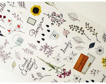 "Agenda/Planner Decorating Sticker - ""Garden"" Series"