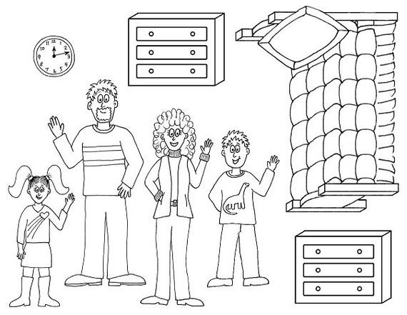 barbie coloring pages dresser | Pics Of Doll Furniture Coloring Pages