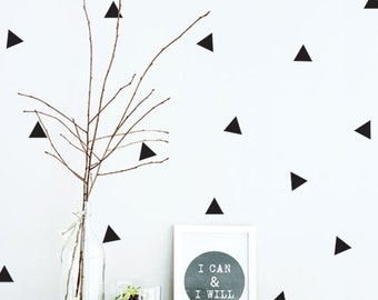 Triangle wall Decal, Patterned Wall Sticker, Removable Vinyl Decal for Nursery, Kids wall decor,Geometric wall decal