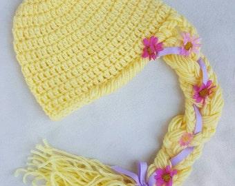 Rapunzel inspired crocheted hat
