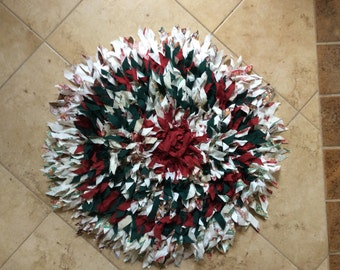 26inch Round Shag Rug Christmas