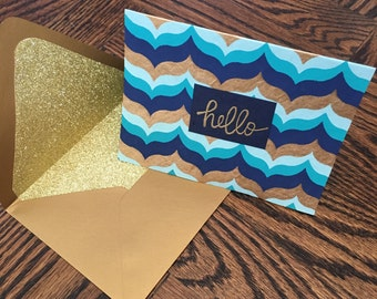 Custom Handmade Thank You Cards (hello, hola, bonjour)
