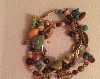 Funky Festival Bracelet Mixed Beads