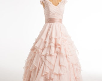 Romantic Ruffle Dress- size 6