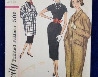 Vintage Simplicity coat and dress pattern 2375 Size 12
