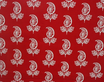 SALE  - Michael Miller - Garden Party by Pillow & Maxfield - Pattern # DC5556 - Paisley Flower - Cotton fabric by the yard (last 2 yds)