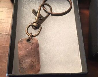 Child Drawing keychain (copper)