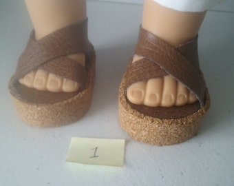Wedge shoes for your American Girl or Other 18 Inch Doll