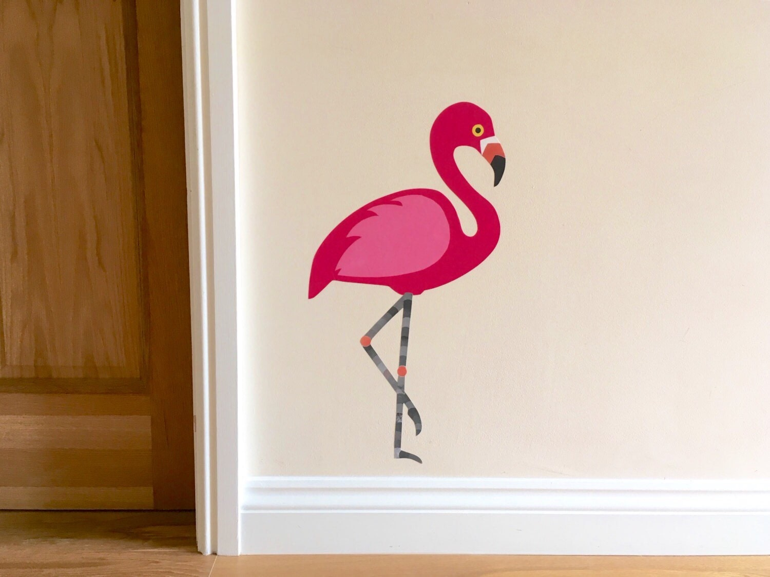 Pink Flamingo Decal Pink Flamingo Wall Sticker By