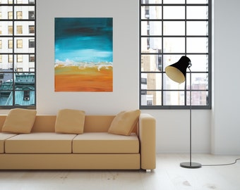 """SOLD!! 14""""h x 11w"""" Acrylic Abstract Painting. Art Resin. Abstract painting. Contemporary art."""