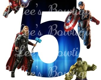 Avengers Superhero Iron on Transfer Custom Made