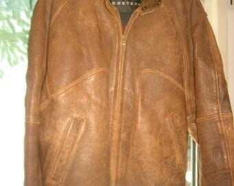 Men's XL CONTEXT Leather Bomber Jacket