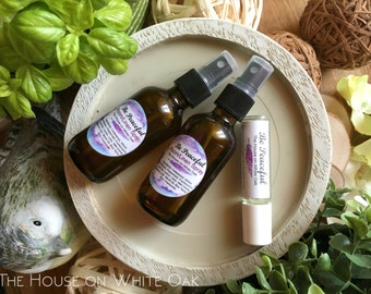 Anxiety Relief | Essential Oil Blends | Linen Spray | Mental Health | Anti-Anxiety | New Mom Gift | Baby Shower Gift | Christmas Gift