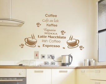 Wall Kitchen coffee No. 135