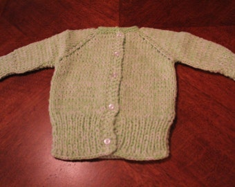 Crocheted Baby Sweater with buttons