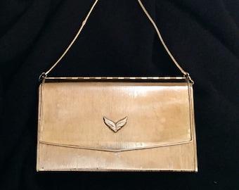 Beautiful Vintage Delill Brushed Gold Evening Bag ~ Made in Japan