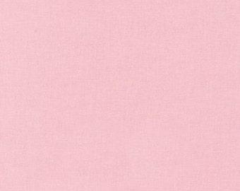 Kona Cotton Peony Pink half yard, Light Pink fabric Robert Kaufman, designer fabric 100% cotton fabric