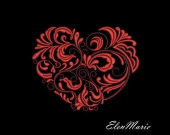 MACHINE EMBROIDERY DESIGN -  Heart