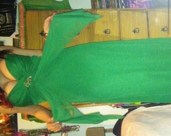Green maxi dress made by b. darlin size 5/6