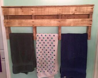 Pallet Towel Rack - 3 Towels