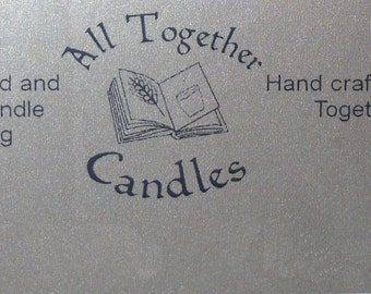 Scented Candles 100% Soy wax hand prepared and poured - Size small