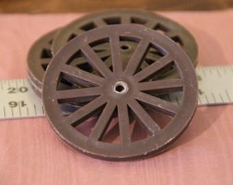 Miniature Plastic Wagon Wheels