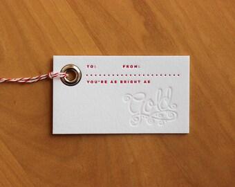 Gold, Frankincense & Myrrh Gift Tags (3)