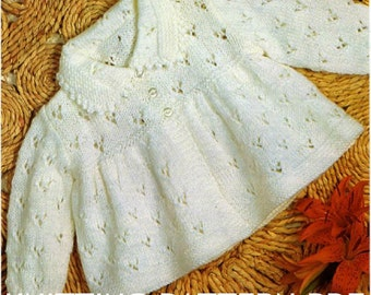 Knitting Pattern  baby matinee coat PDF Instant Download Nr.27