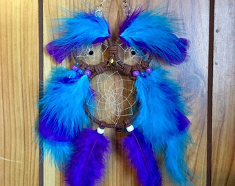 Purple and Blue Owl Dream catcher