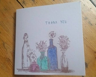 A thank you greeting card
