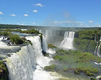 Iguazu Falls Brazil-Argentina Metallic Art Print 8 X 12