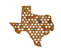 Beer Cap Map Texas USA, Beer Cap Holder, Beer Cap Display, Beer Aficionado Gift for Him, Groomsmen gift, Father's Day Gift, Cork Tree