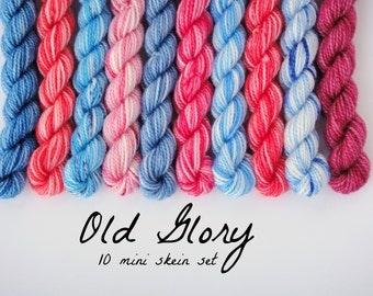 10 Sock Mini Skein Set- Old Glory