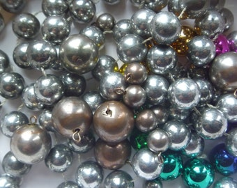 metallic beads for jewellery projects, salvage jewelry