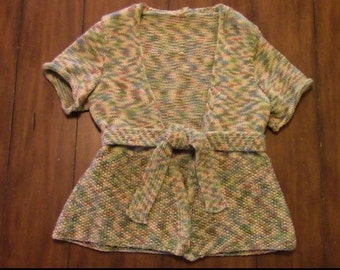 "Hand Knit ""Willow"" Sweater with Sash Women's Sz. Small"