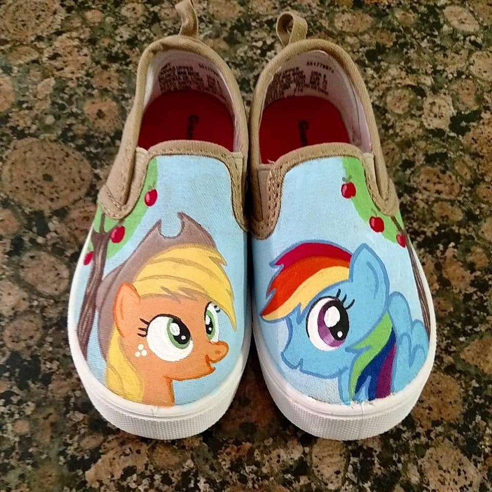 custom painted shoes my pony