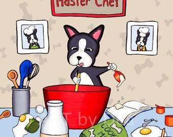 Boston Terrier Print - Master Chef
