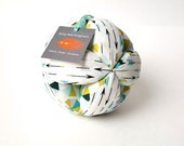 Baby toy ball, montessori ball, ORGANIC fabric ball, easy grab ball, toddler toy, puzzle ball (blue arrow print) by Holly Jane Originals