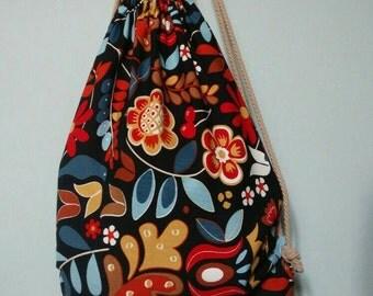 Floral backpack bag