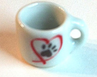 "Miniature ""Paws on my Heart"" Coffee Cup"