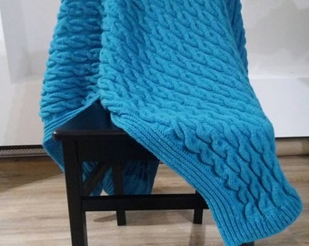 Crocheted Blue Blanket