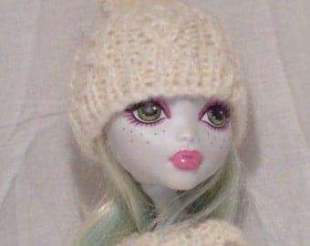 Hand knitted Monster High Pom Pom beanie