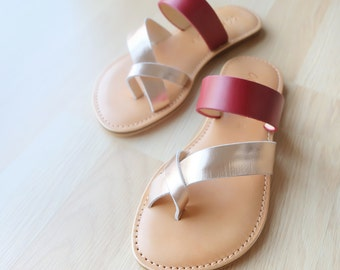 The series of leather sandals